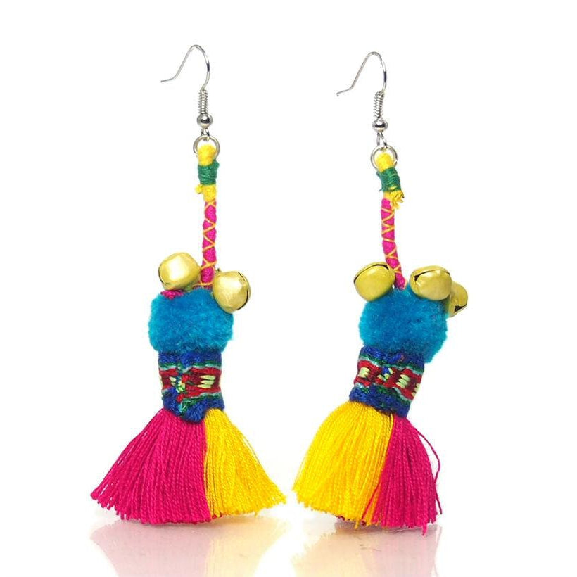 Hill Tribe Crocheted Earrings, C