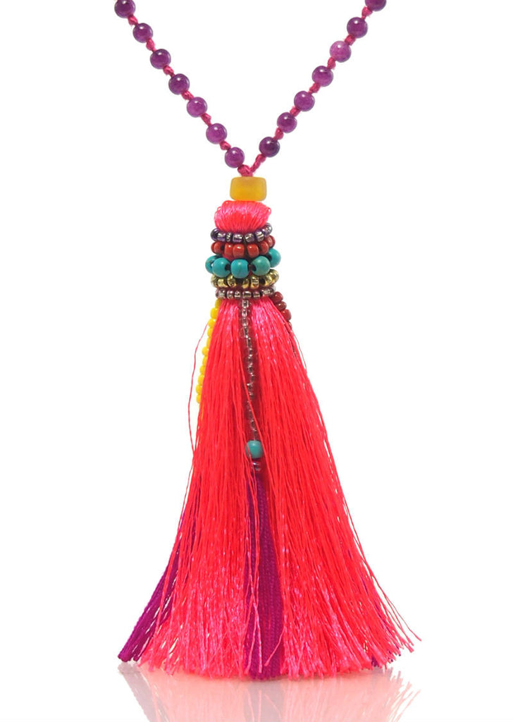 Hill Tribe Tassel Necklace