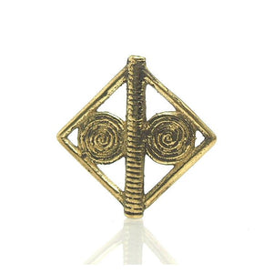 Baoule Cast Brass Heirloom Bead 1