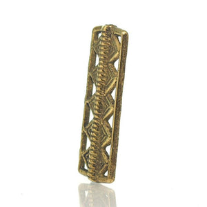 Baoule Cast Brass Heirloom Bead 3