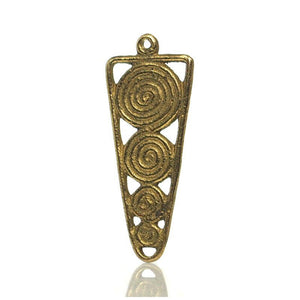 Baoule Cast Brass Heirloom Bead Pendant 5