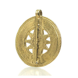 Baoule Cast Brass Heirloom Pendant 7