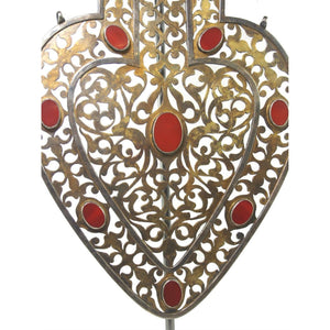 Turkmen Cordiform Heart Shape Pendant-12