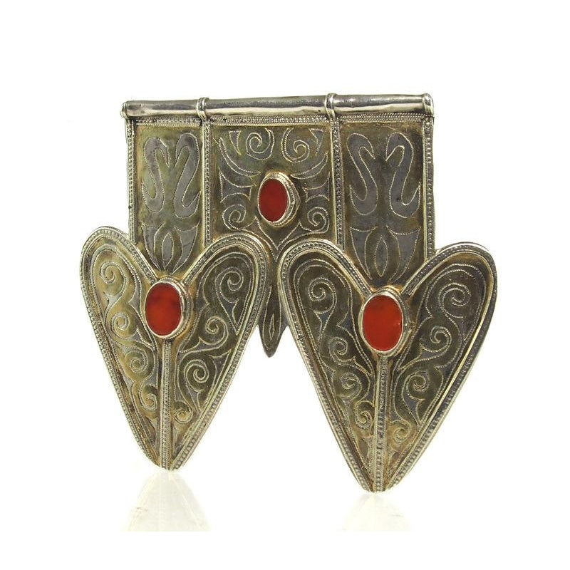 Turkmen Double Asyk Heart/Cordiform Pendant Ca.1900