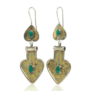 "Turkmen ""Asyk"" Heart/Cordiform Earrings"