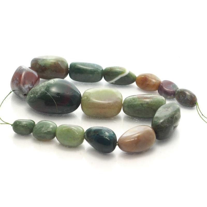 Bloodstone Fine Tumbled Nugget Strand (Option 1)