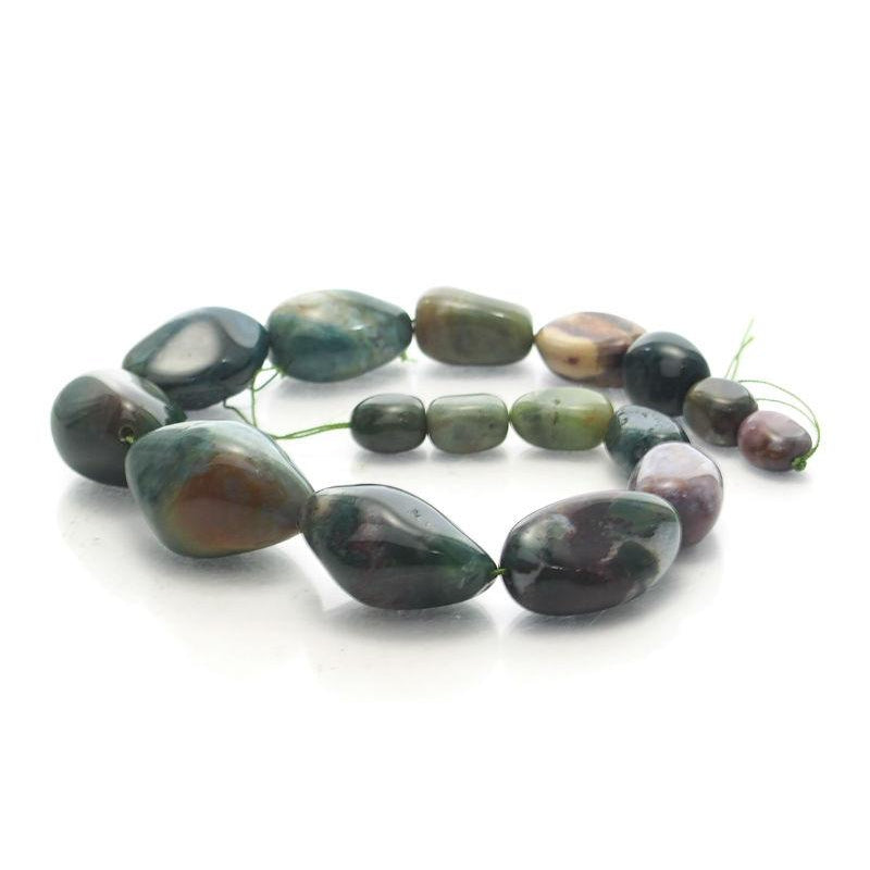 Bloodstone Fine Tumbled Nugget Strand (Option 2)
