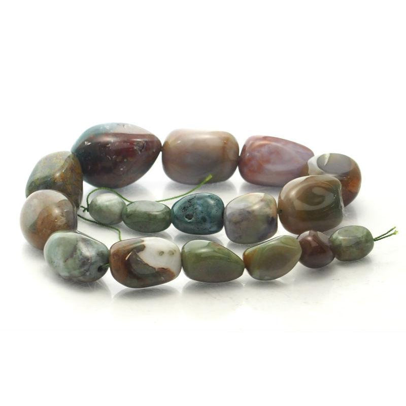 Bloodstone Fine Tumbled Nugget Strand (Option 4)
