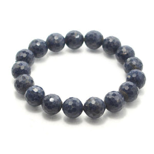 Sapphire Faceted Stretch Bracelet 13.5mm