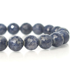 Sapphire Faceted Stretch Bracelet 11mm