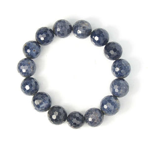 Sapphire Faceted Stretch Bracelet 15mm