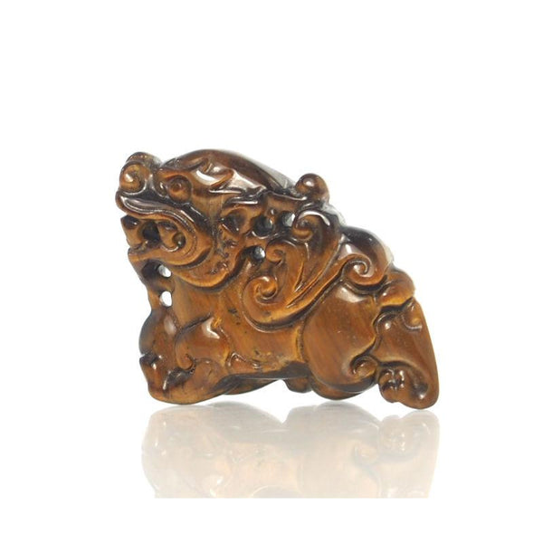 Tiger's Eye Foo Dog Pendant