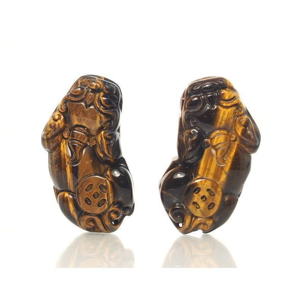 Tiger's Eye Foo Dog Pendants