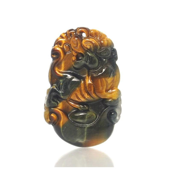 Tiger's Eye Chinese Zodiac Pendant, Tiger