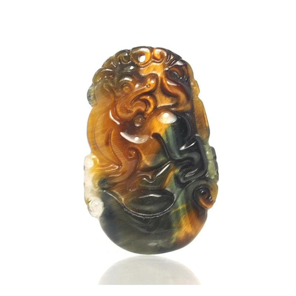 Tiger's Eye Chinese Zodiac Pendant, Dog