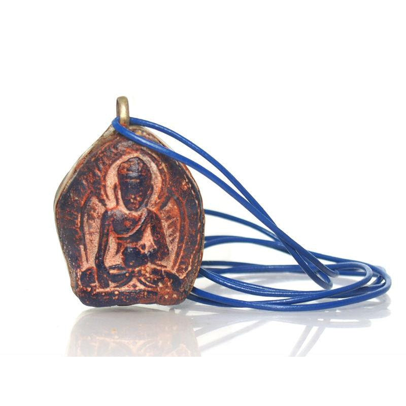 Lord Buddha Invoking The Earth Goddess Mae Thorani Pendant 2
