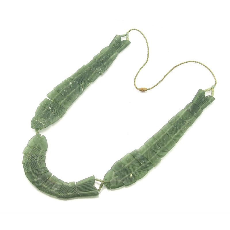 Afghan Jade/Bowenite Fish Abundance Necklace