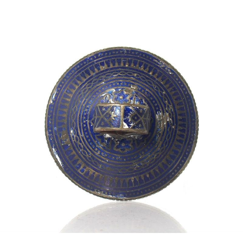 Multan Valley Lapis Lazuli Enamel Rings Mid 20th Century 2
