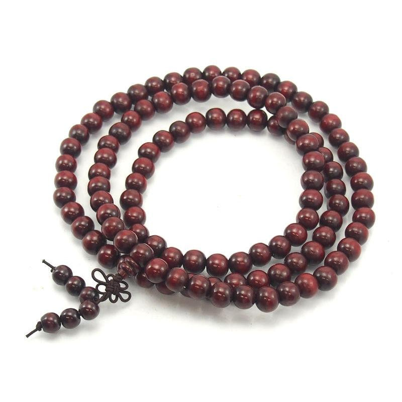 Chinese Deep Red Wooden Mala 12mm