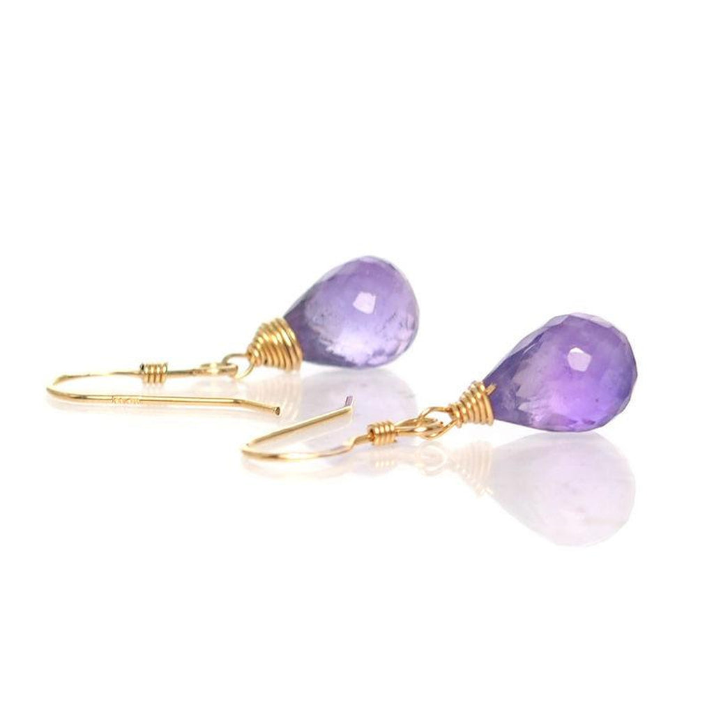 Amethyst Earrings with Gold Filled French Ear Wire
