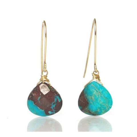 Turquoise  Earrings with Gold Filled Earwires