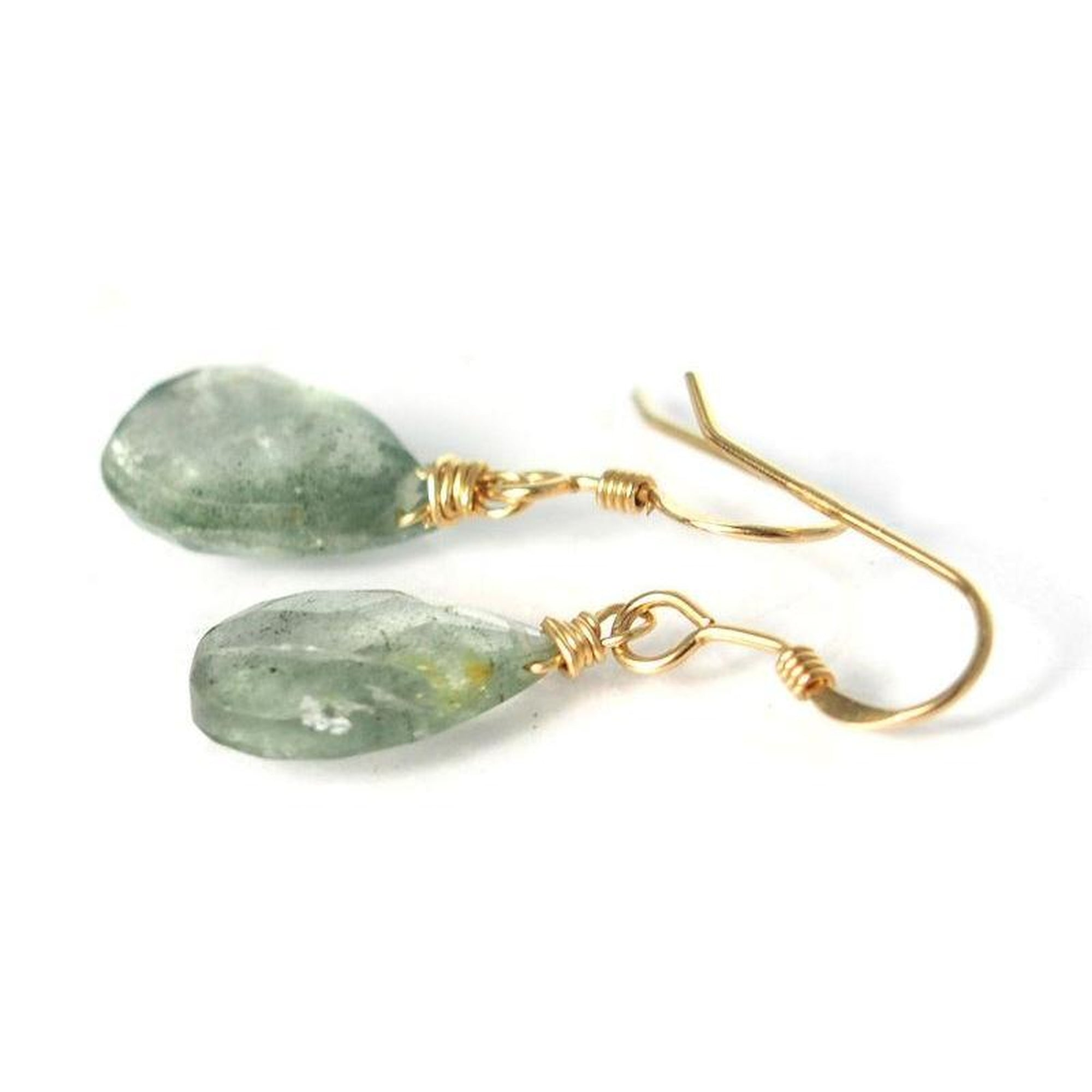 Aquamarine Earrings with Gold Filled Earwires - Beads of Paradise