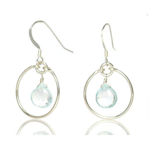 Swiss Blue Topaz Earrings with Sterling Silver Earwires