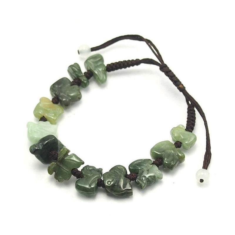 Jade Adjustable Zodiac Animal Bracelet