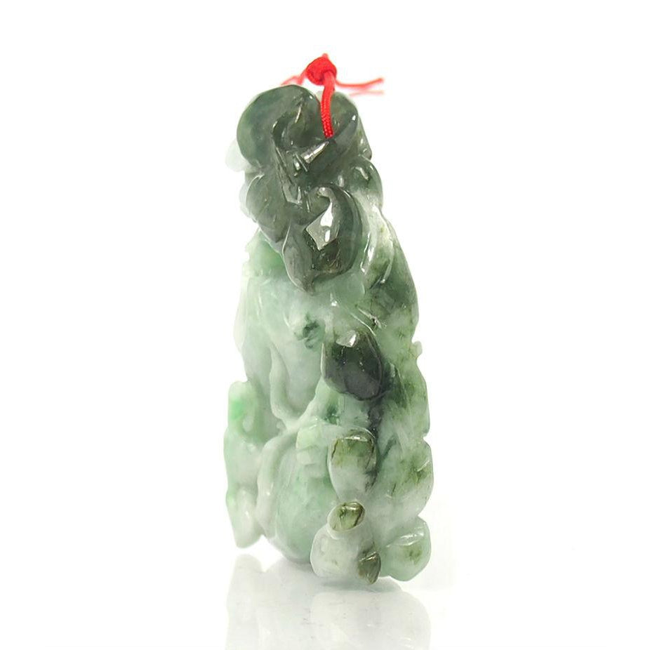Jade Mystical Healing Gourd With Lingzhi , The Sacred Fungus of Immortality XLarge