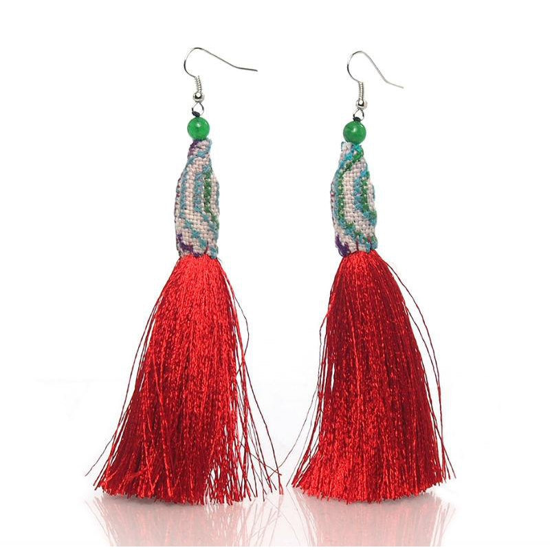 Hill Tribe Crocheted Earrings, E