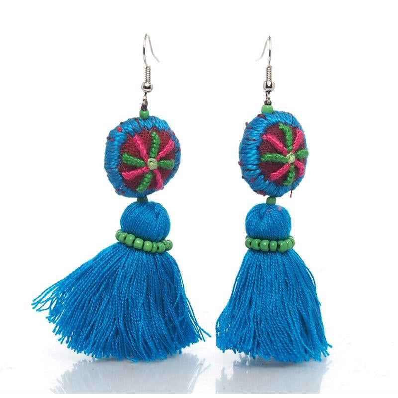 Hill Tribe Crocheted Earrings, G