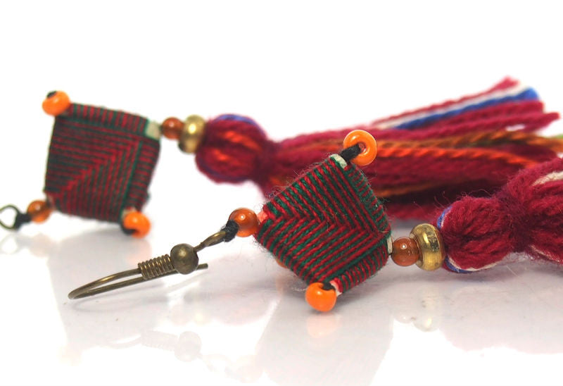 Hill Tribe Crocheted Earrings, H