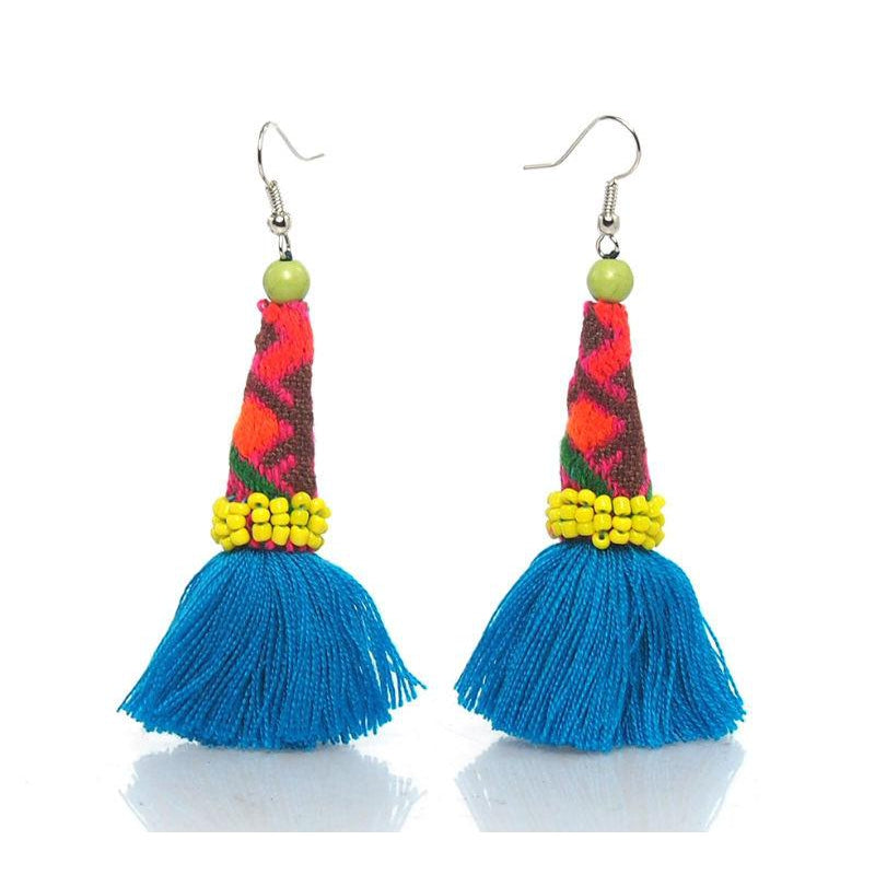Hill Tribe Crocheted Earrings, I