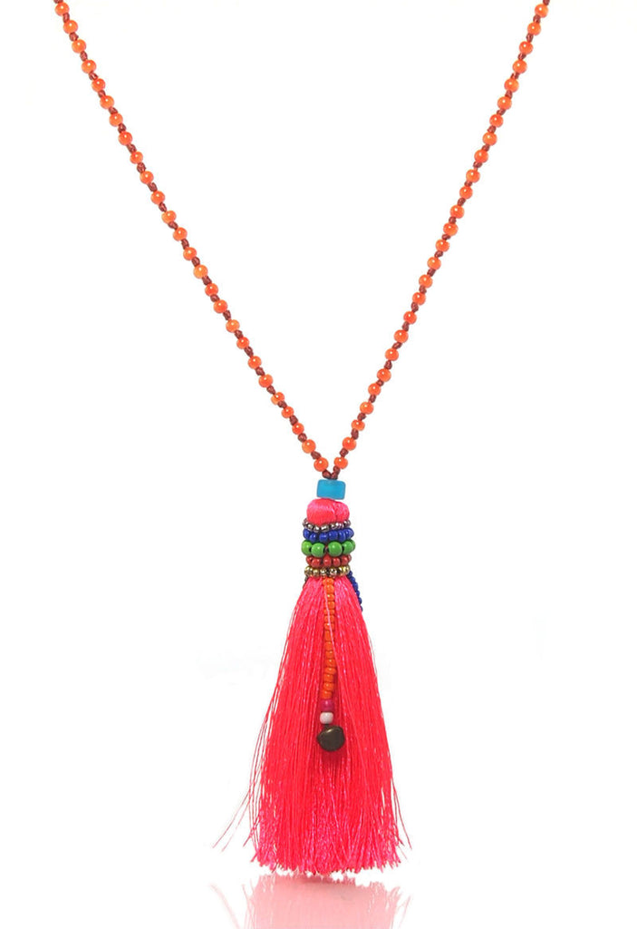 Hilltribe Tassel Necklace, B