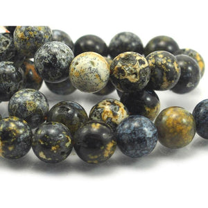 Agate Blue Rounds 12mm Strand