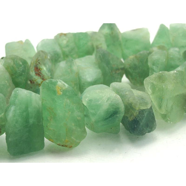 """15/"""" Strand Natural Gorgeous Fluorite Polished Nuggets Beads 7-15mm Old Stock19"""
