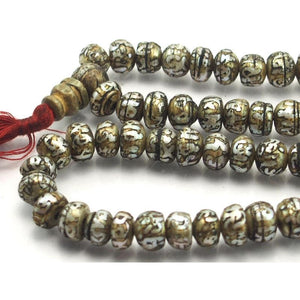 Om Mantra Fresh Water Pearl Mala 10mm