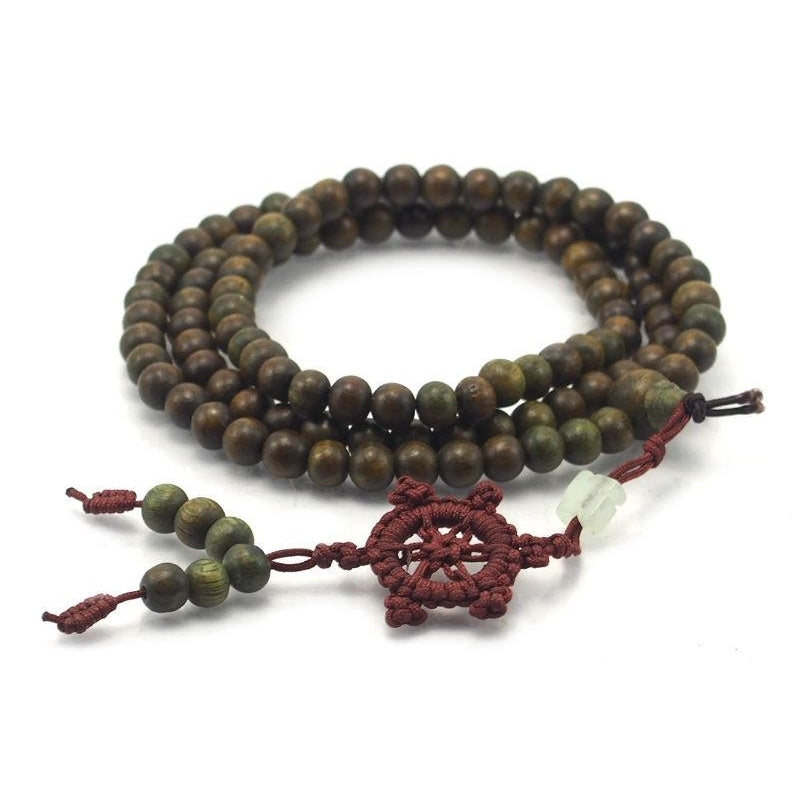 Chinese Green Sandalwood Mala 6mm