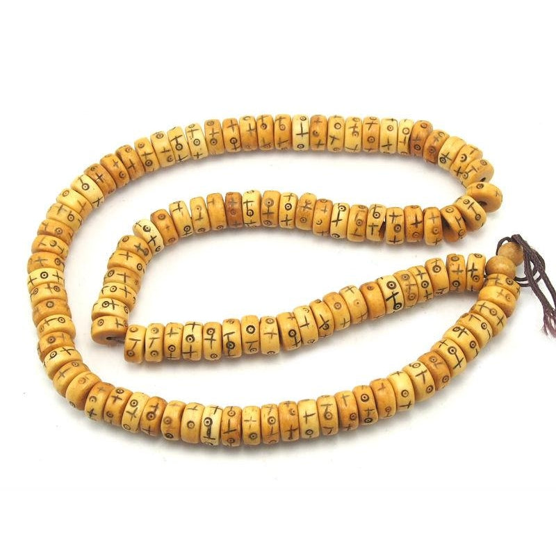 "Chinese Cow Bone ""+ o"" Mala"