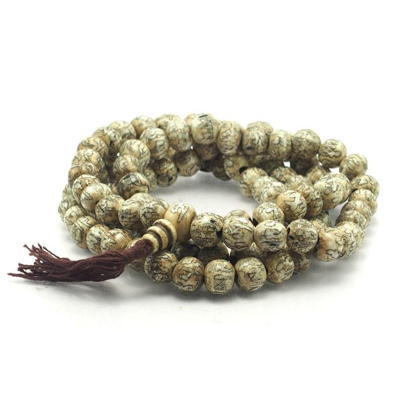 Om Mantra Arca Shell Mala 14mm