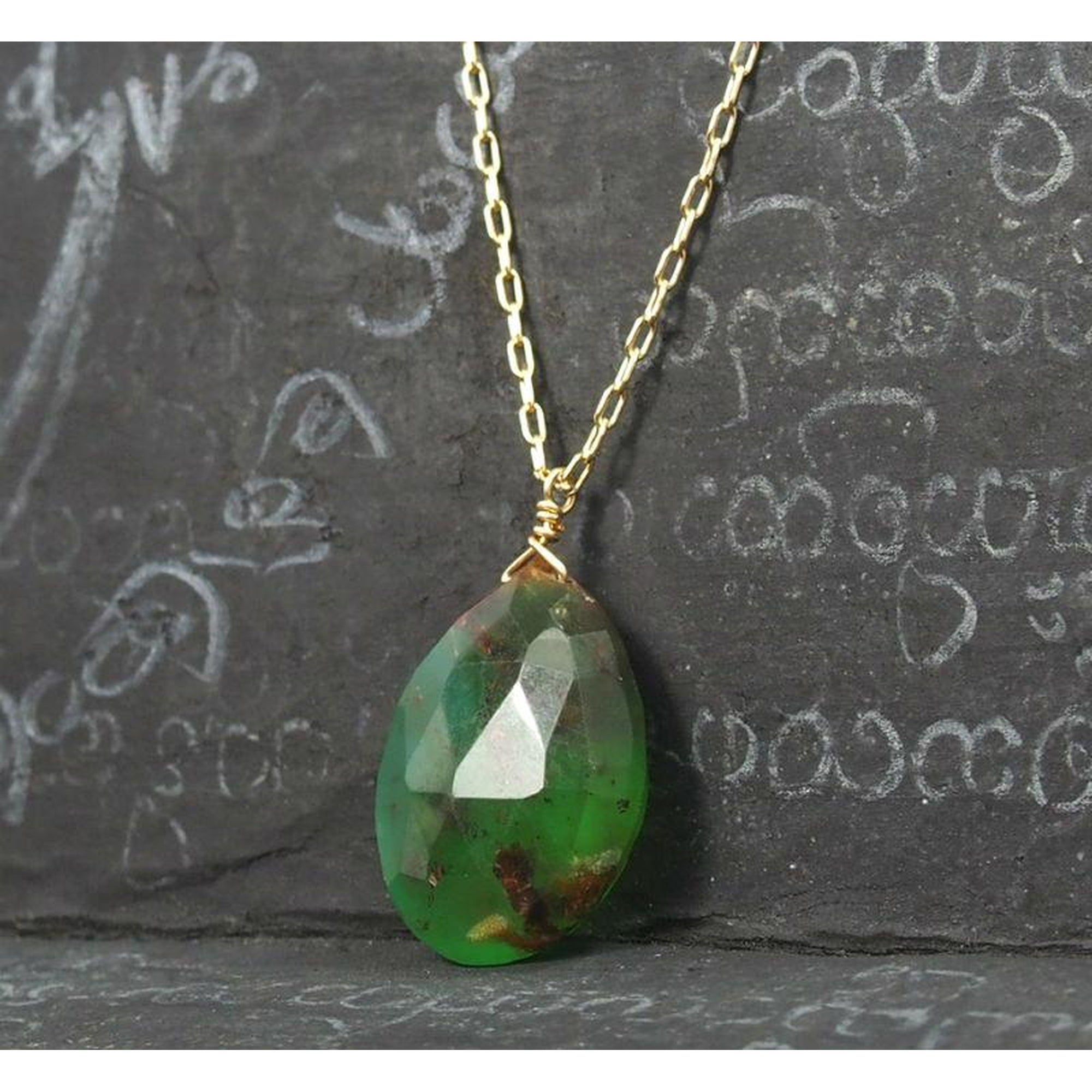 in green design cluster large the tzarina pendant necklace gold chrysoprase filled