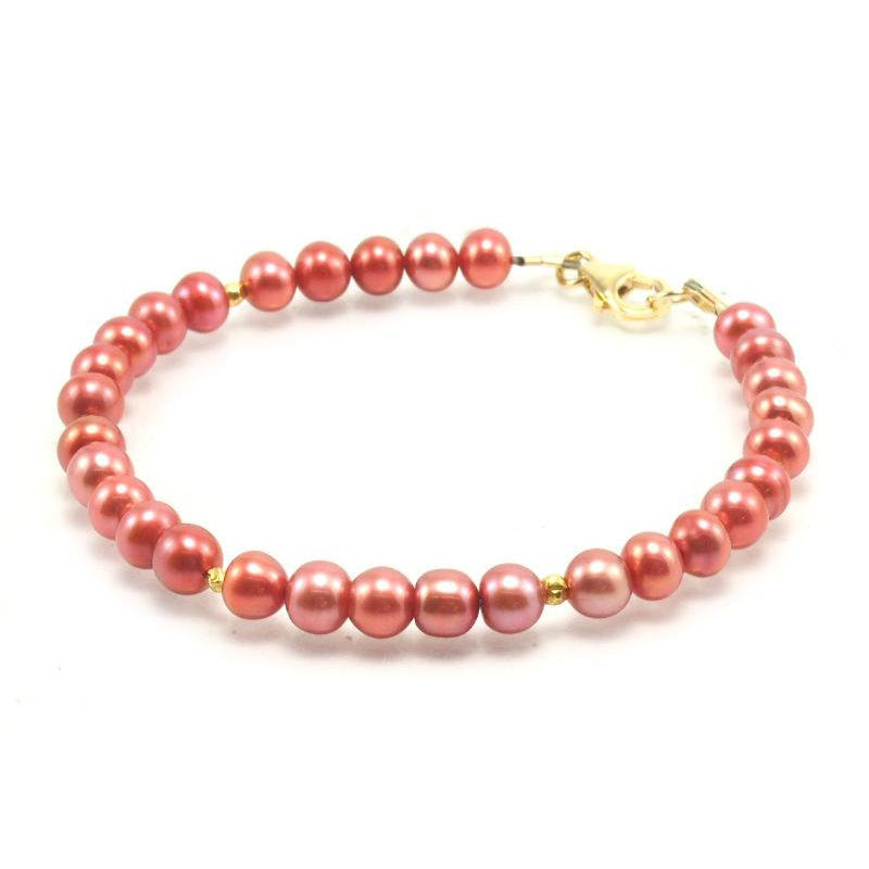 Fresh Water Pearl Bracelet With Gold Filled Trigger Clasp 2