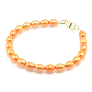 Fresh Water Pearl Bracelet With Gold Filled Trigger Clasp 3