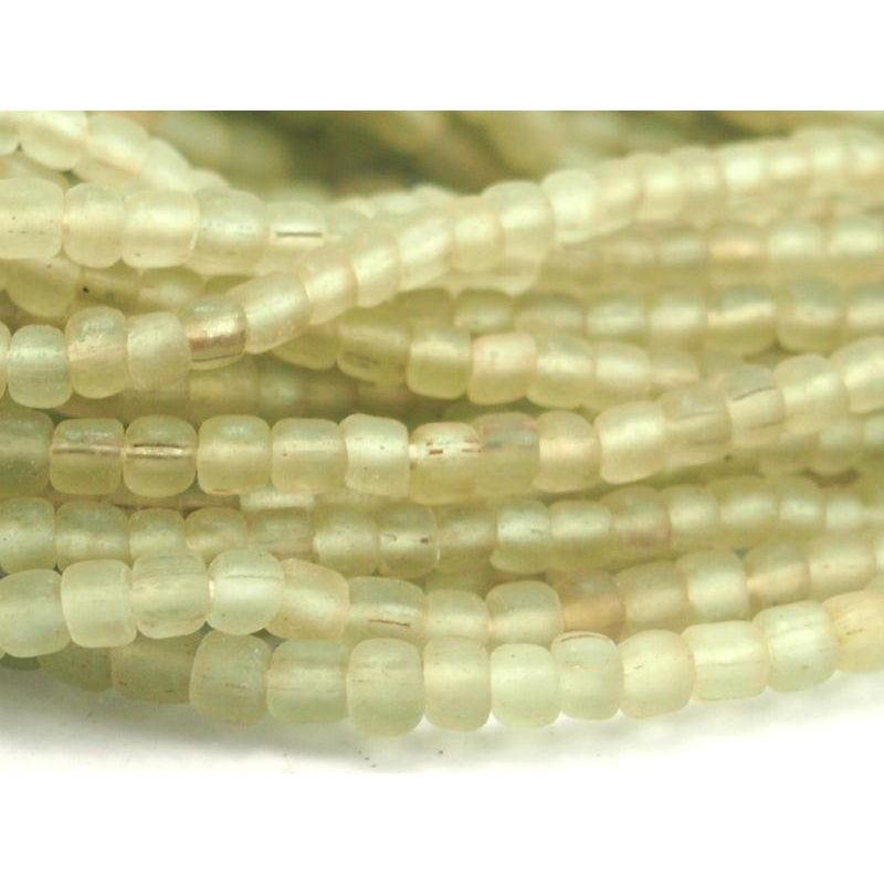 Hand Wound Java Glass Bead Strand 8