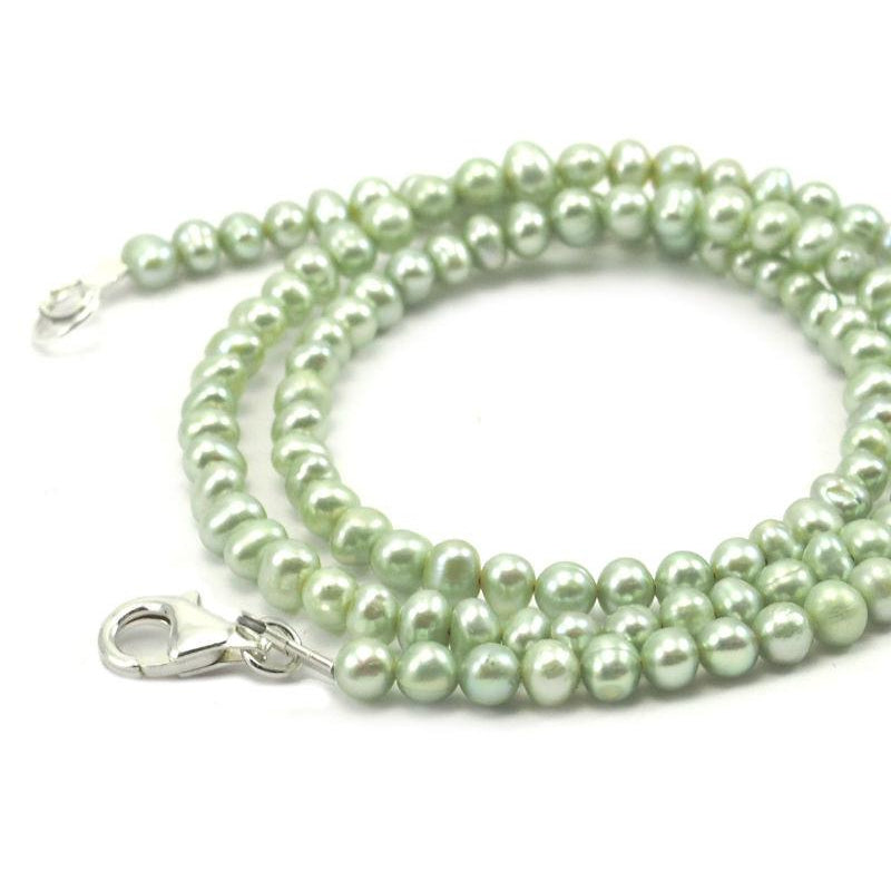 Fresh Water Pearl Necklace With Sterling Silver Trigger Clasp