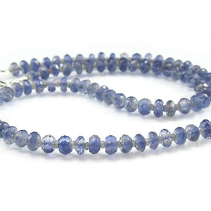 Iolite and Labradorite Necklace with Sterling Silver Trigger Clasp