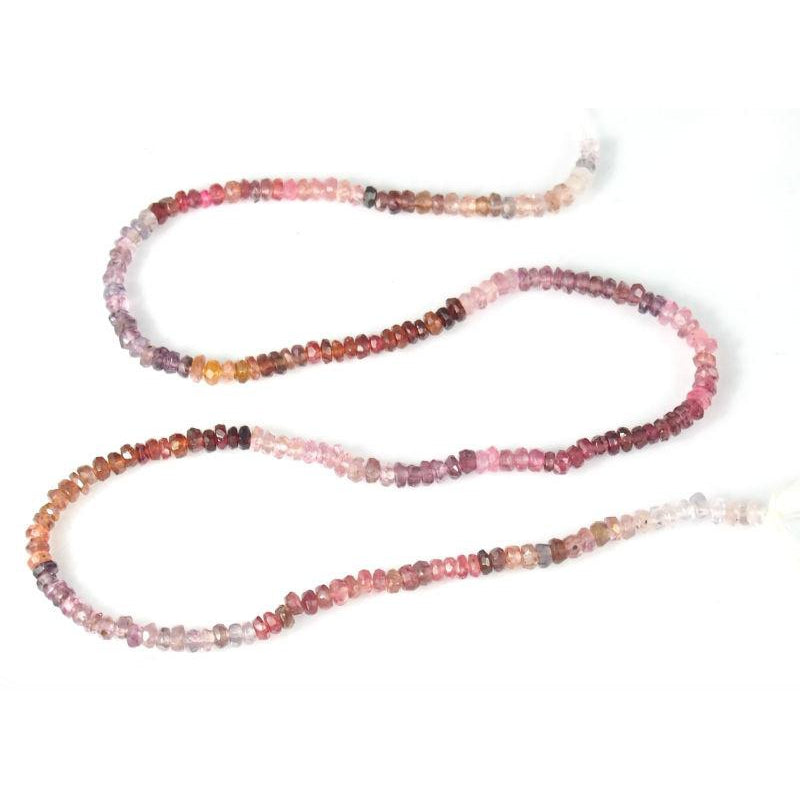 Spinel Multi Color Faceted Rondelles 3.5mm Strand