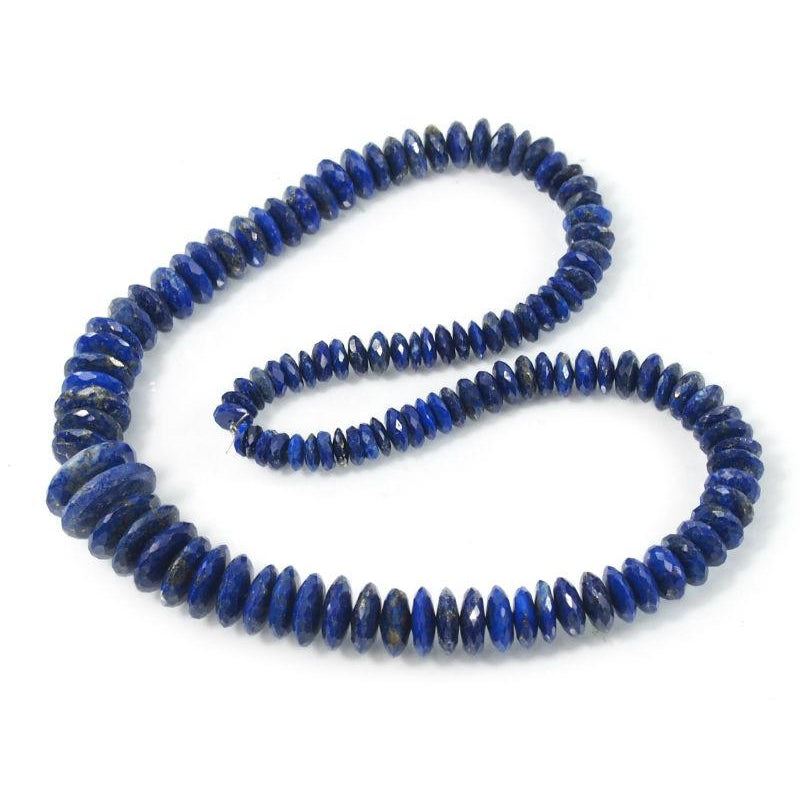 Lapis Lazuli Faceted Disc Strand