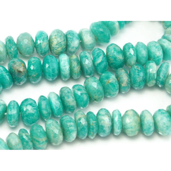 Brazilian Amazonite Faceted Rondelles 10mm