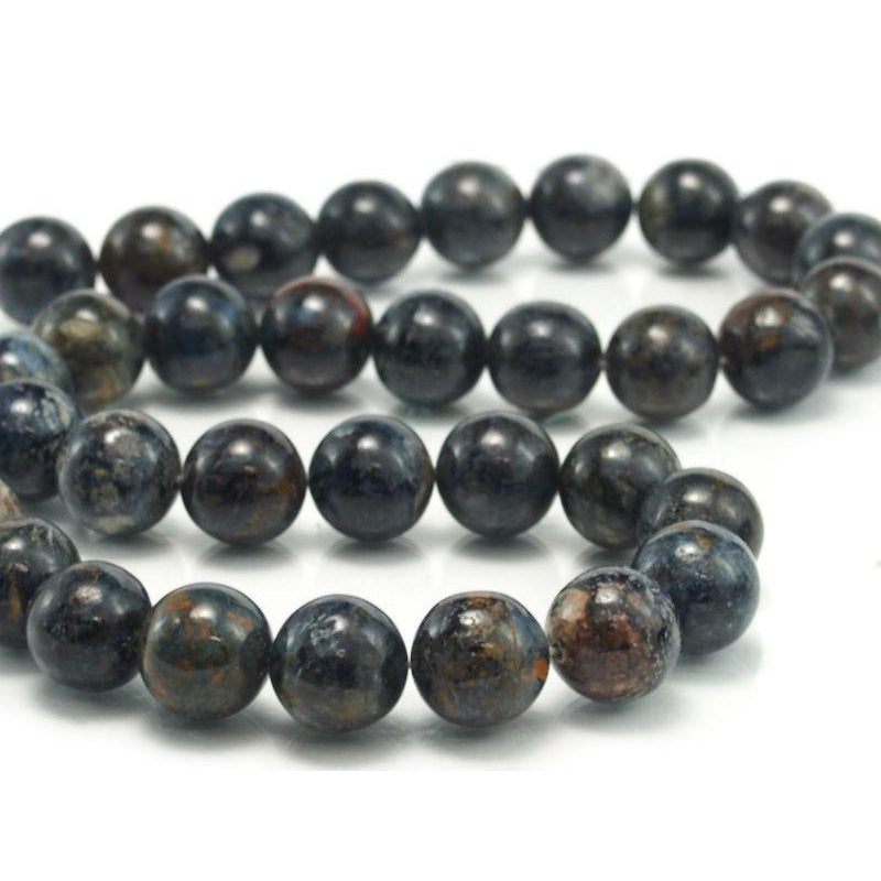 Pietersite Smooth Rounds 12mm Strand